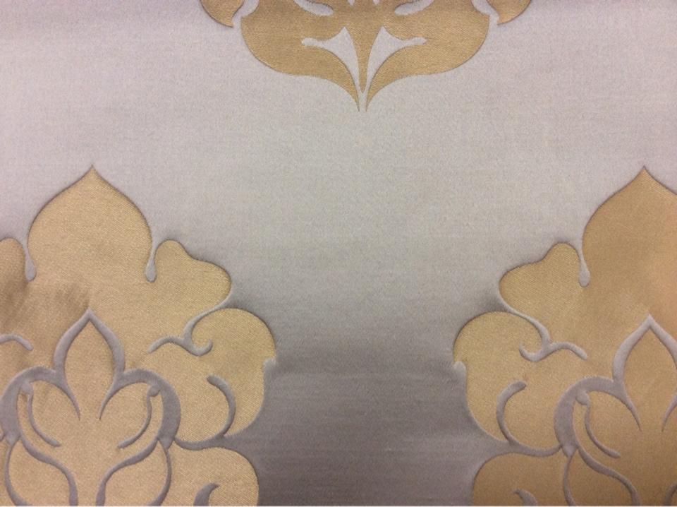 Шикарная ткань из льна и атласа 2358/45. Италия, Европа, портьерная ткань для штор. Бледно-голубой фон, золотистый орнамент купить