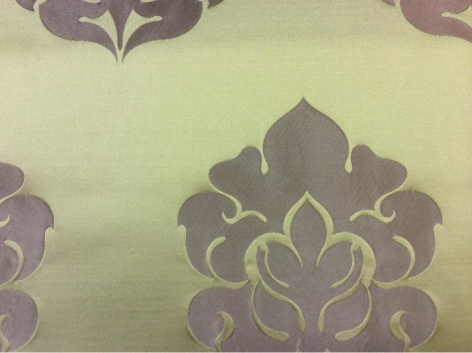 Дорогая атласная ткань в стиле арт-деко 2358/51. Италия, Европа, портьерная. Фон цвета хаки, бронзовый орнамент заказать в каталоге