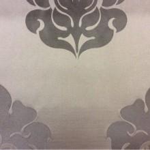 Итальянская ткань с принтом из атласа и льна 2358/28. Европа, Италия, портьерная. Шоколадный фон, шоколадный орнамент