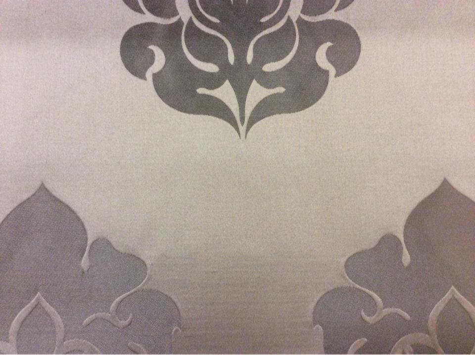 Итальянская ткань с принтом из атласа и льна 2358/28. Европа, Италия, портьерная. Шоколадный фон, шоколадный орнамент купить