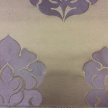 Купить ткань из атласа в Москве 2358/43. Италия, Европа, портьерная. Шоколадный фон, фиолетовый орнамент