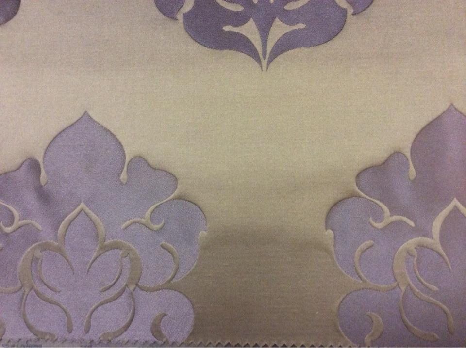 Купить ткань из атласа в Москве 2358/43. Италия, Европа, портьерная. Шоколадный фон, фиолетовый орнамент каталог