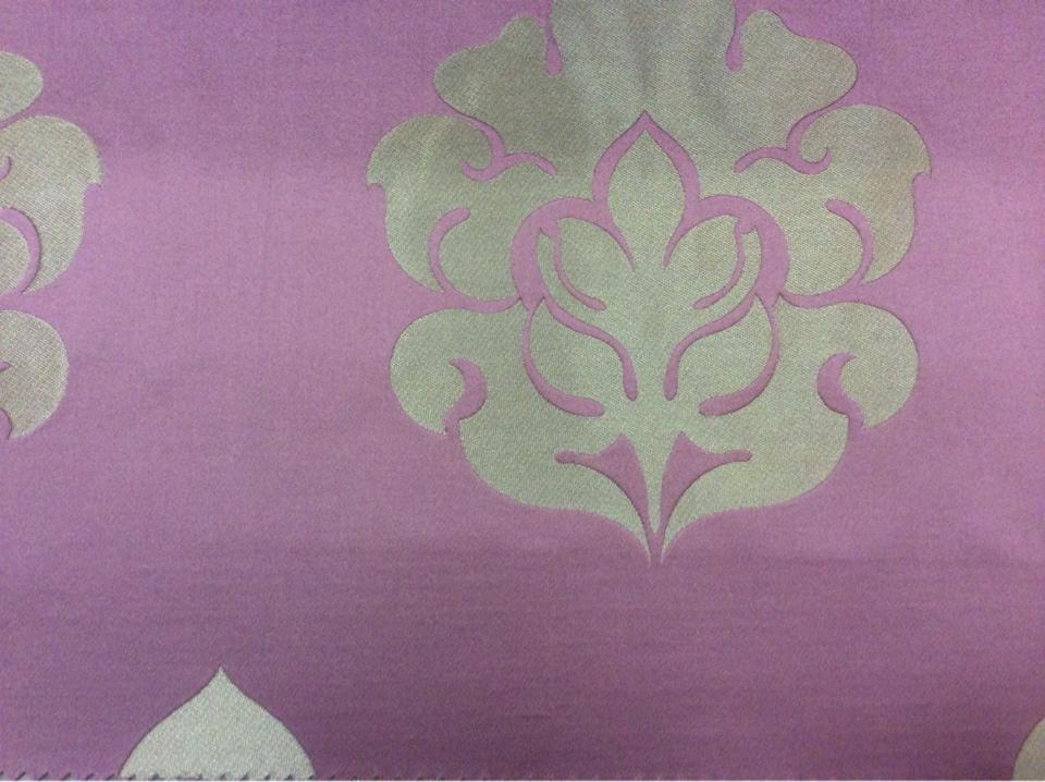 Купить дорогую атласную ткань с вышивкой в Москве 2358/44. Италия, Европа, портьерная. Фон цвета марсала, бронзовый орнамент купить