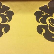 Элитный атлас с вышивкой в стиле барокко в Москве 2358/22. Италия, Европа, портьерная. Золотой фон, орнамент цвета венге