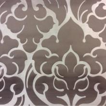 Очень красивая итальянская ткань из льна и атласа 2366/27. Европа, Италия, портьерная. Золотистый фон, шоколадный орнамент