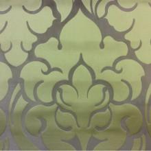 Премиум ткань для штор 2366/51. Италия, Европа, портьерная. Бронзовый фон, орнамент цвета хаки