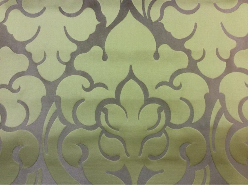 Премиум ткань для штор 2366/51. Италия, Европа, портьерная. Бронзовый фон, орнамент цвета хаки купить в наличии