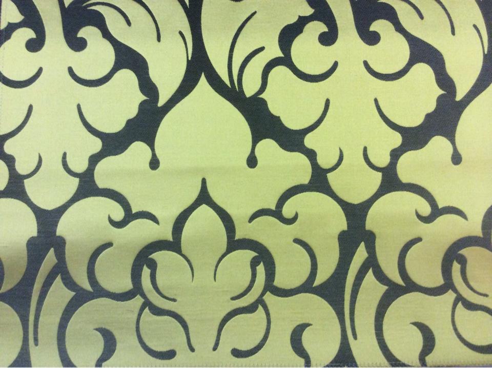 Купить итальянскую ткань в Москве в стиле арт-деко 2366/22. Европа, Италия, портьерная. Фон цвета венге, золотой орнамент купить