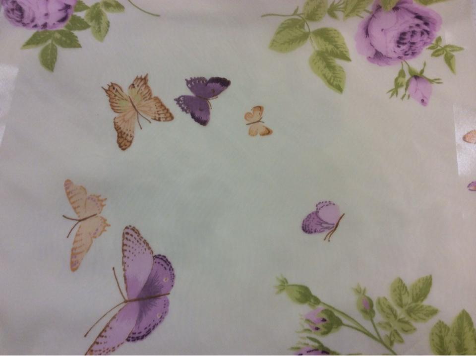 Купить тюль с бабочками и цветами в Москве
