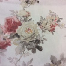Ткань из шифона купить в Москве, цветочный микс, акварель