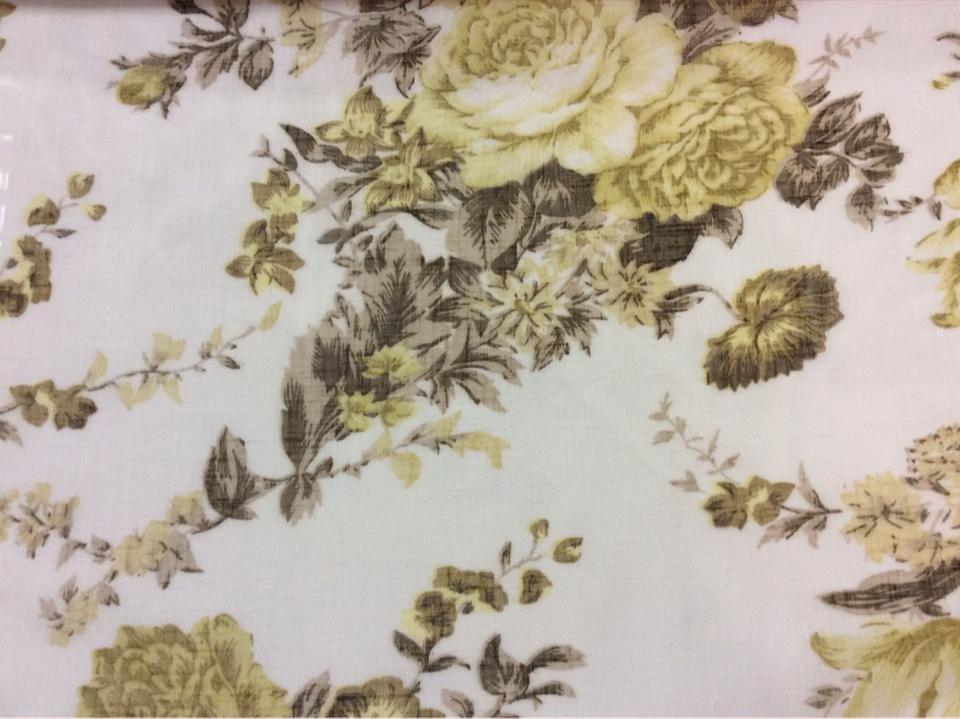 Купить ткань из льна с цветочным принтом в интернете