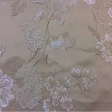 Купить ткань в стиле ампир, ренессанс в Москве Elea, col 12. Италия, Европа, портьерная. На бежевом фоне серебристо-бежевые цветы