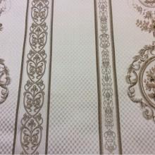 Купить портьерную ткань из жаккарда в Москве Zola, col 2. Европа, Италия, портьерная. На светло-бежевом фоне коричневые «медальоны»