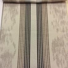 Купить ткань в стиле хай-тек, минимализм Aquamarine, col 28. Испания, Европа, портьерная. На сером фоне вертикальные полосы чёрного и коричневого оттенков