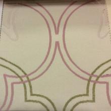 Купить плотную испанскую ткань в розницу Aquamarine, col 33. Испания, Европа, портьерная. На среднем фоне абстрактные линии оливкового и розового оттенков
