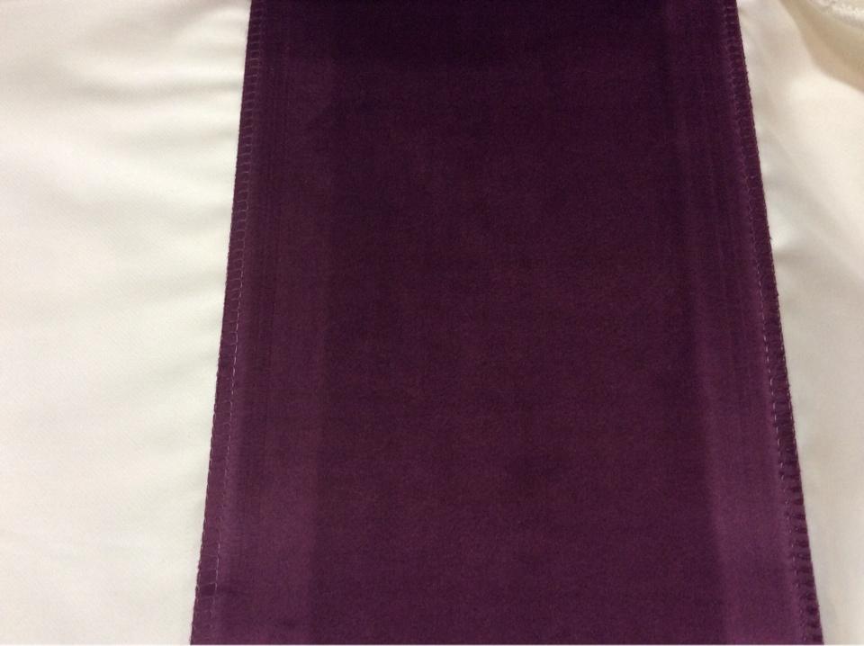 Роскошный бархат с эффектом пыльного покрытия баклажанового цвета Haven, col 25. Европа, Италия, портьерная
