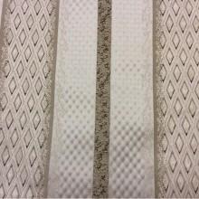 Итальянская ткань из жаккарда в стиле ампир, барокко Арт: 1320F, col 1. Европа, Италия, портьерная. Чередование полос с мелким ромбом золотистого, шоколадного и серого оттенков