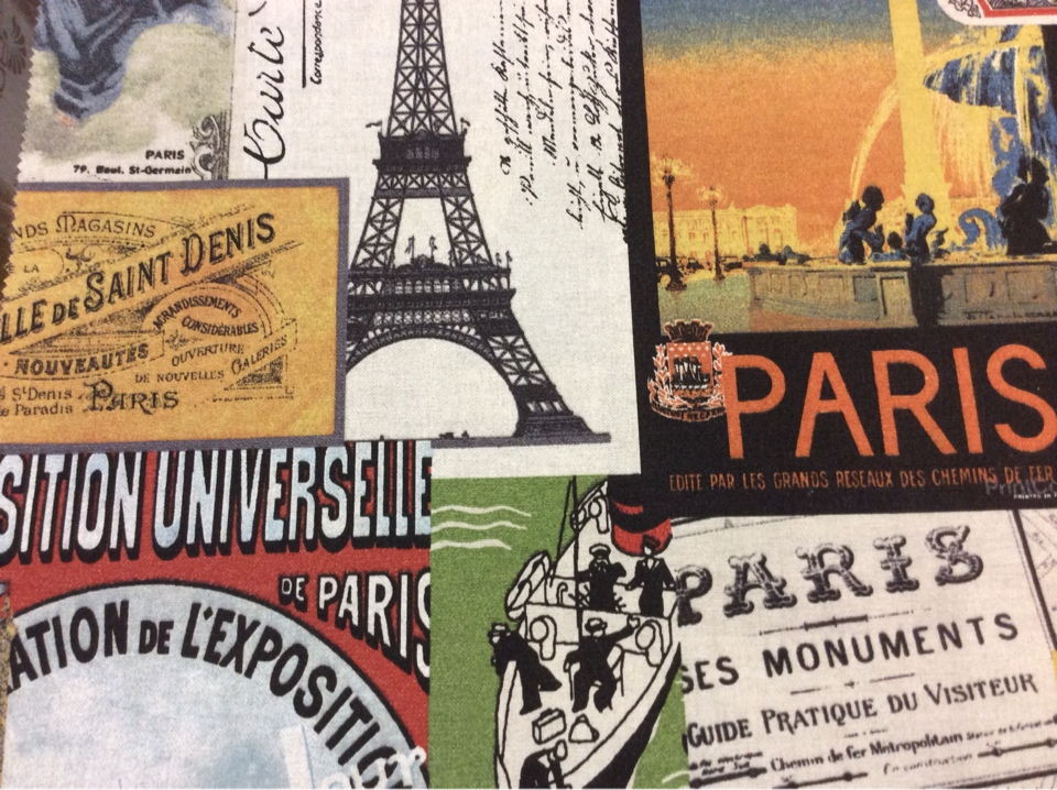 Тефлоновая ткань с хлопковой нитью и креативным изображением рисунка Parisian, col 01. Испания, Европа, портьерная, скатертная ткань