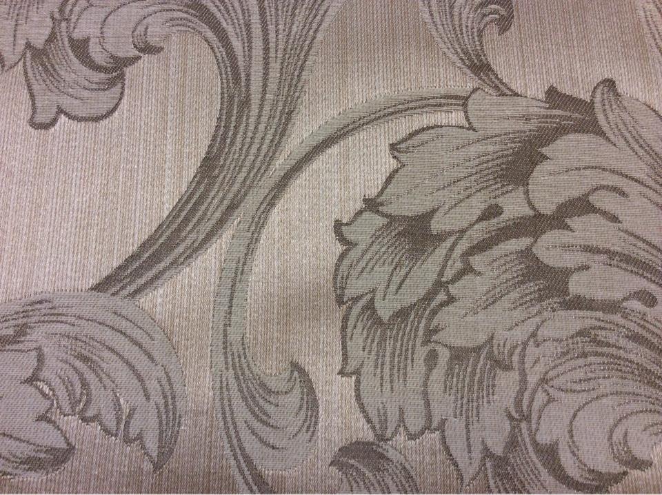 Купить ткань на шторы в Москве Glamour, col 21. Италия, Европа, портьерная ткань. На бежевом фоне завитки кремового, песочного оттенков