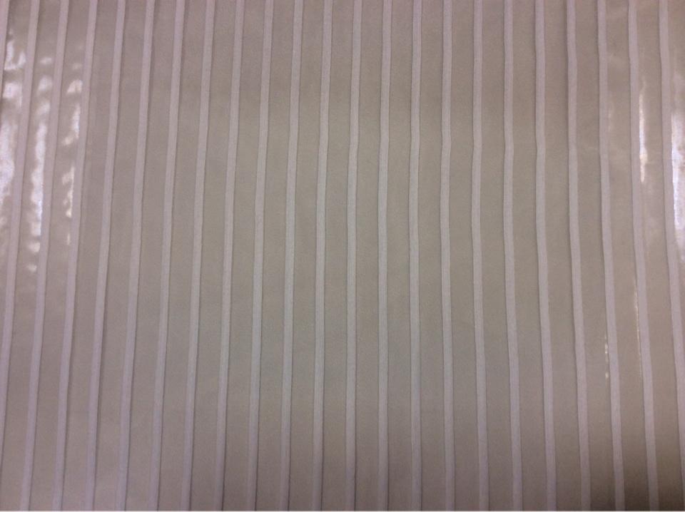 Купить белую тюль в полоску из органзы Palmyra, col 38. Европа, Италия, тюлевая ткань для штор.