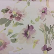 Купить хлопковую ткань в интернет-магазине 2511/33. Италия, Европа, портьерная. На светлом фоне «размытые» абстрактные цветы ( микс, акварель)