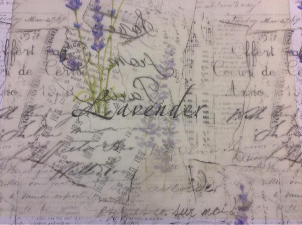 """Тонкая тюлевая ткань, на полупрозрачном фоне абстрактный рисунок: лаванда, """"газетный"""" стиль нанесения 2496/43. Европа, Италия, тюль"""