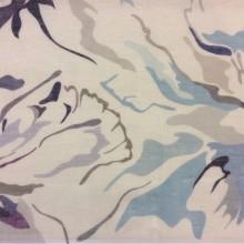 Полупрозрачная натуральная ткань из льна 2512/73. Италия, Европа, лён.   На светлом фоне стилизованные абстрактные цветы ( микс)