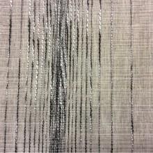 Тюлевая полупрозрачная ткань Palmyra, col 04. На сером фоне вертикальные хаотичные чёрно-серые полосы. Италия, тюль для штор