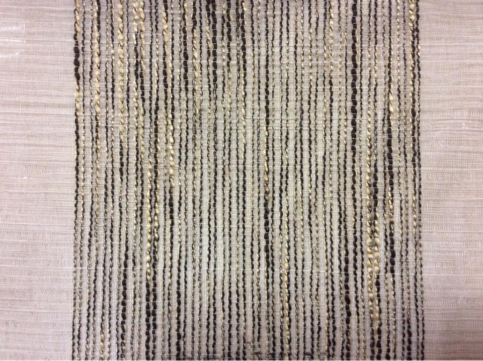 Полупрозрачная тюль на серо-бежевом вертикальные широкие (15см) полосы золотисто-чёрного оттенков Palmyra, col 15. Италия, тюль.