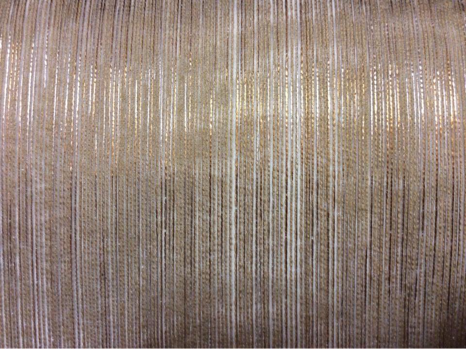 Тюлевая плотная ткань с вертикальной люрексной нитью медно-золотистого оттенка Palmyra, col 29. Италия, плотный тюль.