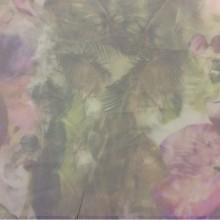 Тонкая тюлевая ткань с абстрактным рисунком в стиле модерн, прованс, кантри 2518/53. Италия, тюль. Абстрактное «размытое» нанесение рисунка с цветочной тематикой ( акварель)