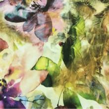 Хлопковая ткань в стиле модерн, поп-арт, кантри 2510/53. Италия, Европа, портьерная. Абстрактный растительный орнамент ( микс, акварель)