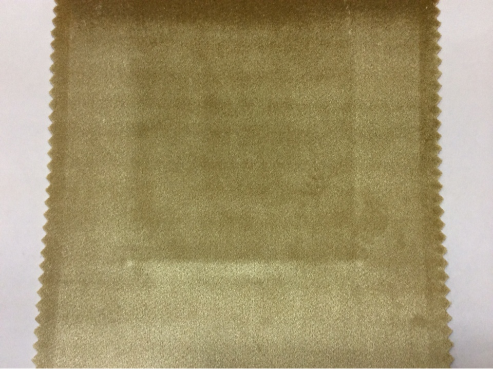 Однотонная бархатная ткань для штор золотисто-бронзового цвета 2419/21. Италия, портьерная.