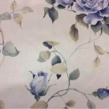 Ткань из атласа на светлом фоне розы в голубых оттенках Capeinick, col 1269. Производства Турции