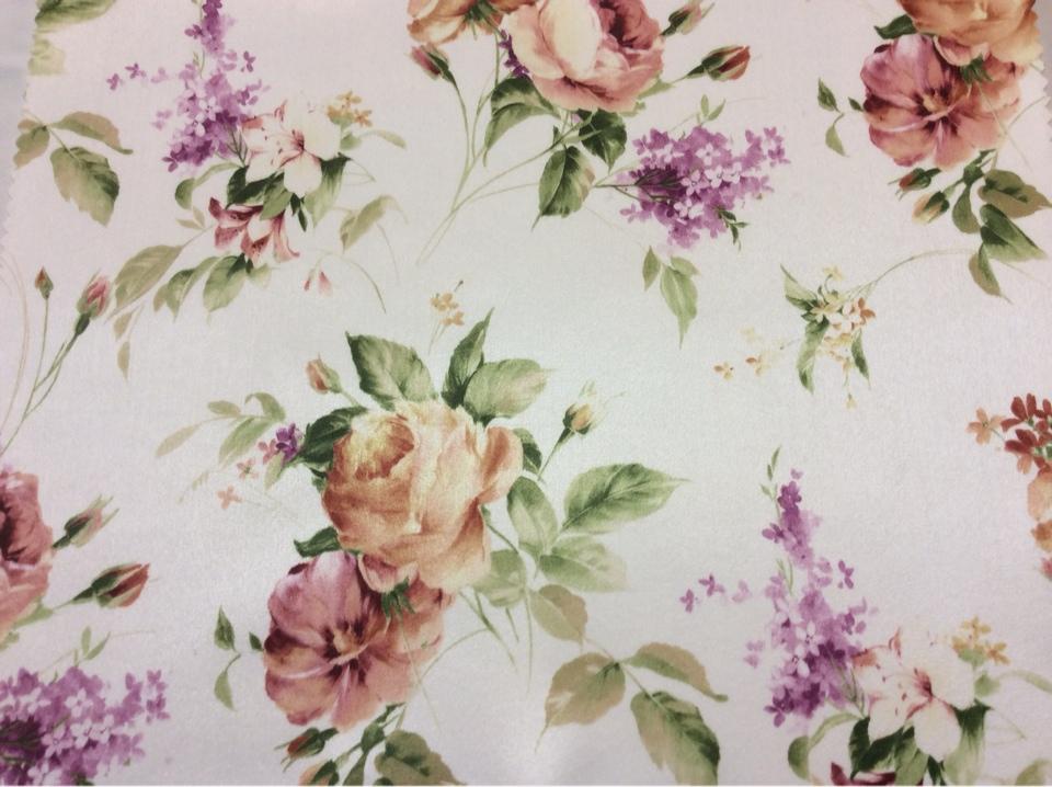 Ткань для штор с розами и незабудками купить в интернет-магазине Москвы Petronella, col 1071. Турция, портьерная.