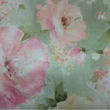Портьерная ткань из атласа Claude, col V1. Турция, портьерная ткань. На зелёном фоне цветочный орнамент, микс