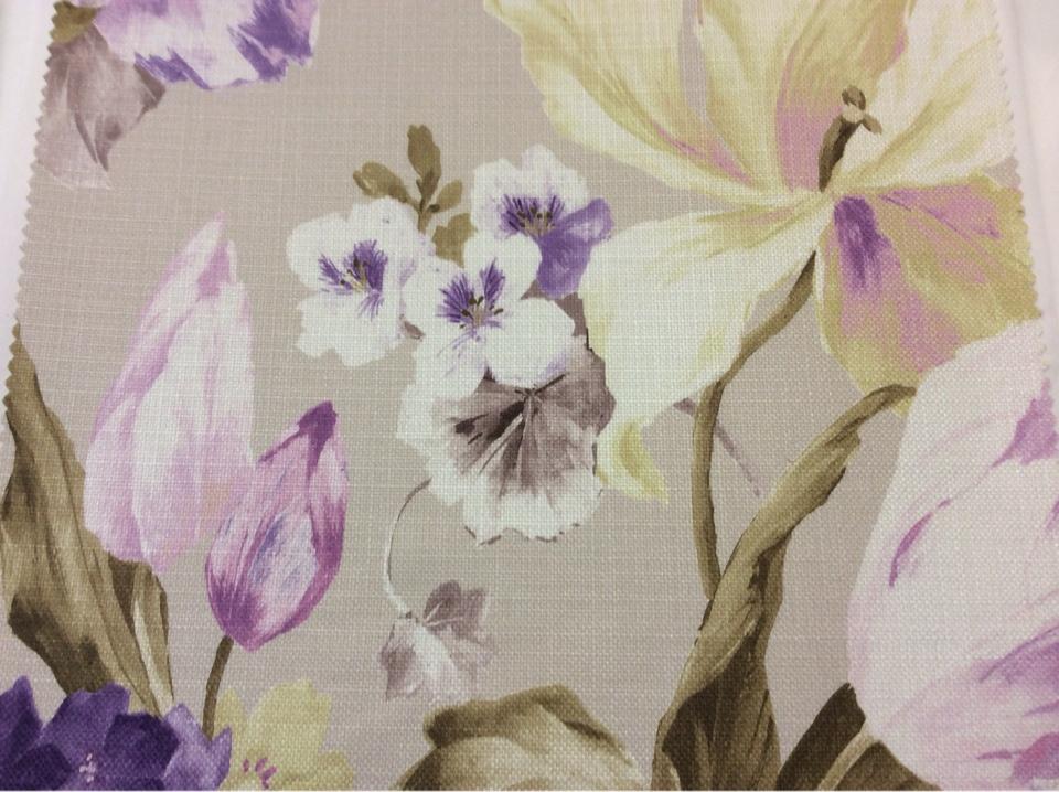 Купить ткань для римских штор в интернет-магазине Leyster, col 1116. Турция, портьерная. Крупные цветы с листьями, микс