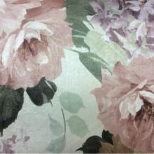 Портьерная ткань для римских штор Georgia, col 1160. Турция, портьерная. Крупные цветы с листьями, микс