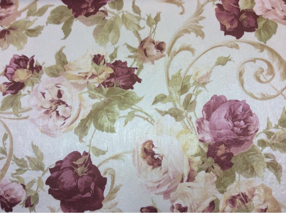 Ткань с яркими цветами из атласа Latour, col 2. Турция, портьерная.