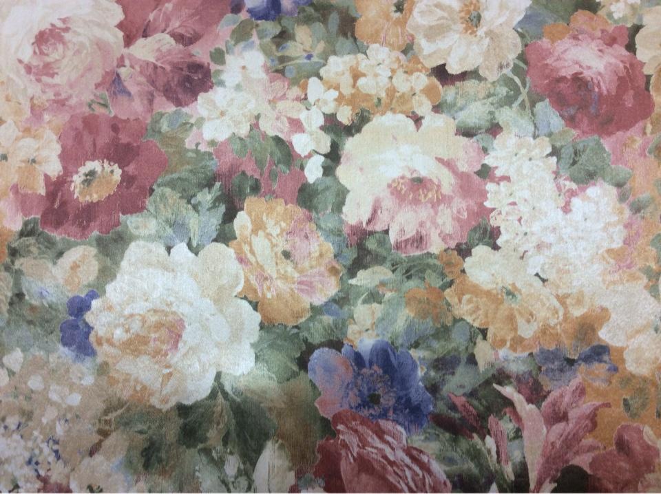 Купить ткань для для квартиры студии в интернет-магазине Москвы Mignon, col 1163. Турция, портьерная ткань для штор. Яркий цветочный орнамент, микс