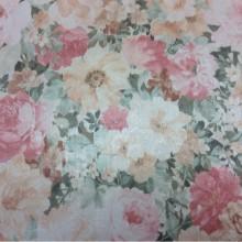 Купить ткань для гостиной из атласа в интернет-магазине Debrus, col 1161. Турция, портьерная ткань. Яркий цветочный орнамент, микс