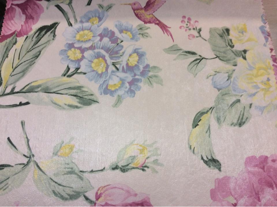 Купить атласную ткань с ярким цветочным рисунком в Москве Michel, col 37. Турция, портьерная ткань из полиестера