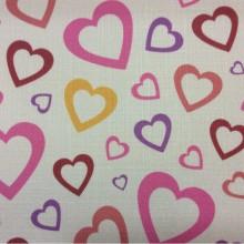 Купить ткань с сердечками в интернет-магазине Lovely, col V2. Турция, портьерная ткань под лен