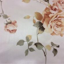 Портьерная ткань из атласа, на светлом фоне розы в жёлтых оттенках Capeinick, col 1270. Турция, портьерная ткань для штор.