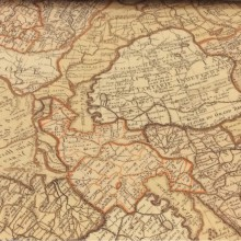 Портьерная ткань с древней картой в интернет-магазине Piri Reis, col 1002. Турция, портьерная ткань для штор. Изображение карты в песочно-бежевых оттенках
