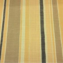 Портьерная ткань «под лён» Earth Stripe, col 1086. Турция. Чередование вертикальных полос жёлто-горчичных оттенков