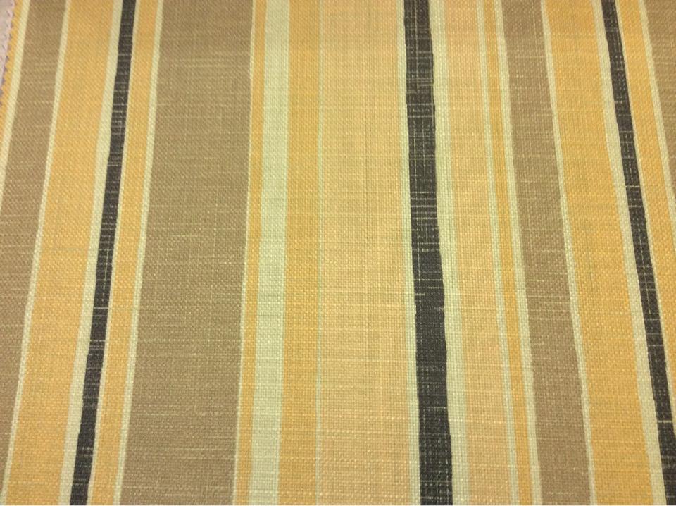 """Портьерная ткань """"под лён"""" Earth Stripe, col 1086. Турция. Чередование вертикальных полос жёлто-горчичных оттенков"""