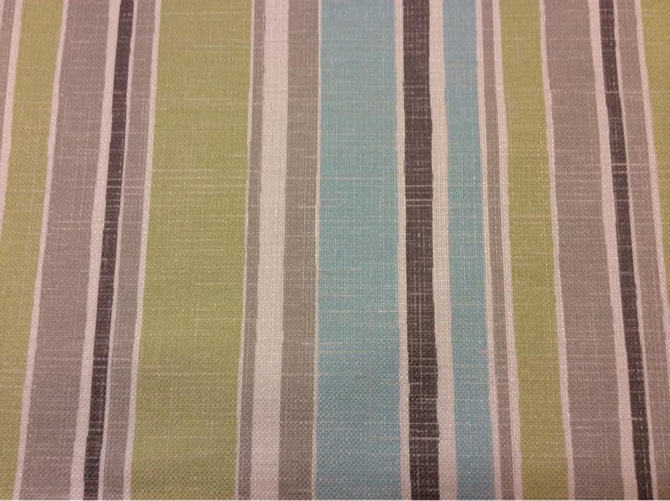"""Купить портьерную ткань """"под лён"""" с чередованием вертикальных полос серого, зелёного и голубого оттенков Earth Stripe, col 1046. Турция"""