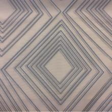 Купить ткань с асимметричными ромбами в серебристо-бирюзовых оттенках Арт: 2551/71. Итальянский каталог. Органза с вискозной нитью в современном стиле