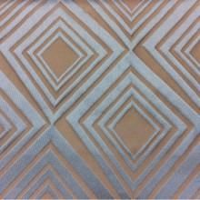Портьерная ткань в современном стиле с эффектом 3D заказать в интернет-магазине Арт: 2549/71. Итальянский каталог ткани. Асимметричные ромбы в оттенках цвета бронзы и бирюзы
